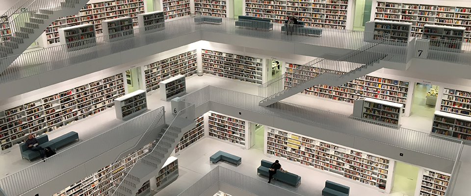 Photo of multi-level library