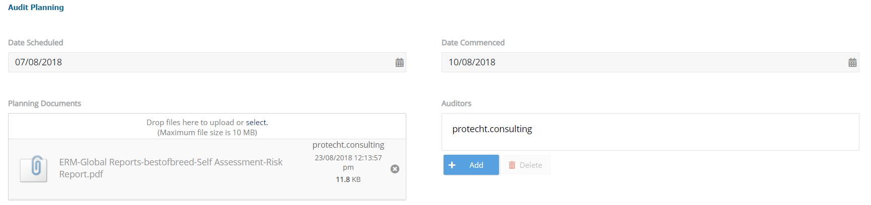 5. Audit Planning